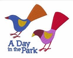Day In Park embroidery design