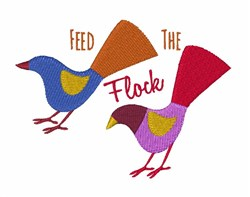 Feed The Flock embroidery design