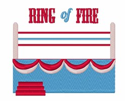 Ring Of Fire embroidery design