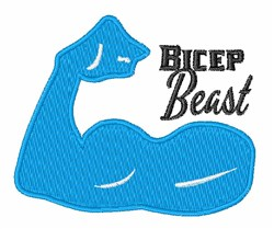 Bicep Beast embroidery design