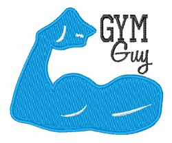 Gym Guy embroidery design