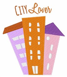 City Lover embroidery design