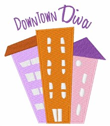 Downtown Diva embroidery design