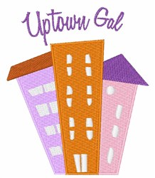 Uptown Girl embroidery design