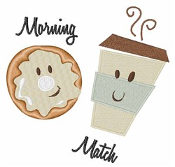 Morning Match embroidery design