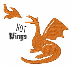 Hot Wings embroidery design
