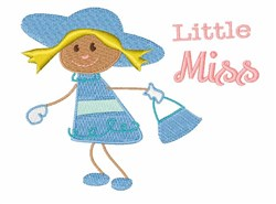 Little Miss embroidery design