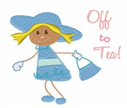 Off To Tea embroidery design