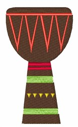 African Djembe Drum embroidery design