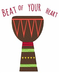 Beat Of Your Heart embroidery design