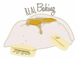 Real Baking embroidery design