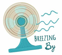 Breezing By embroidery design