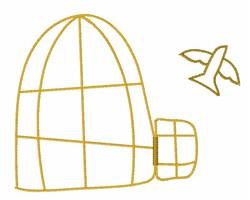 Bird Cage embroidery design