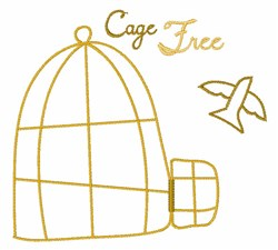 Cage Free embroidery design