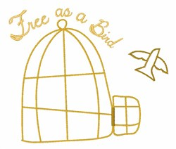 Free As A Bird embroidery design