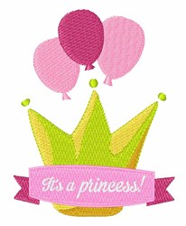 Its A Princess embroidery design