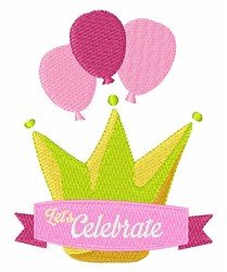 Lets Celebrate embroidery design