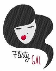 Flirty Gal embroidery design
