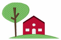 Red House embroidery design