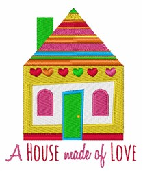 House Made Of Love embroidery design