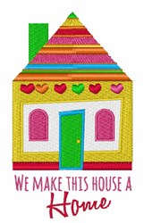 Make House Home embroidery design