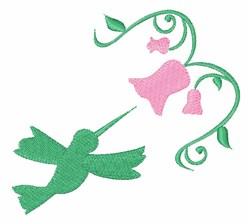 Hummingbird Flower embroidery design