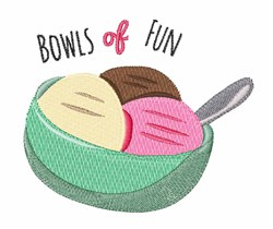 Bowls Of Fun embroidery design