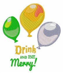 Drink And Be Merry embroidery design