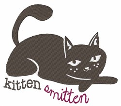 Kitten Smitten embroidery design