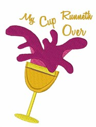 My Cup Runneth Over embroidery design