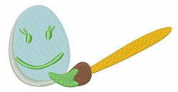 Coloring Easter Egg embroidery design