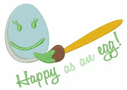 Happy As An Egg embroidery design