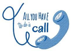 Telephone embroidery design