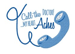 Call The Doctor embroidery design