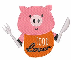 Food Lover embroidery design