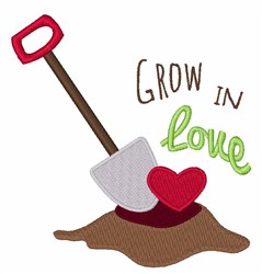 Grow In Love embroidery design