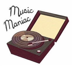Music Maniac embroidery design