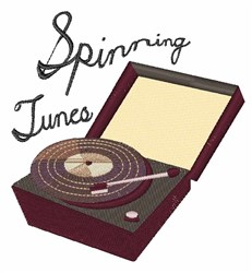Spinning Tunes embroidery design