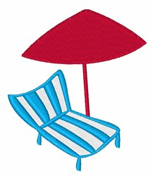 Summer Lounge Chair embroidery design