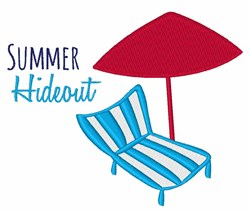 Summer Hideout embroidery design