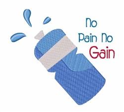 No Pain No Gain embroidery design