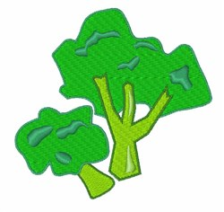 Broccoli embroidery design