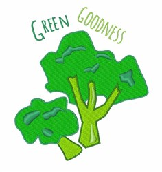Green Goodness embroidery design