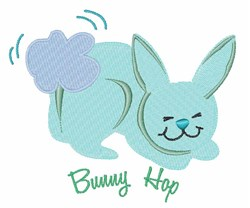 Bunny Hop embroidery design