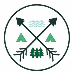 Camping Patch embroidery design