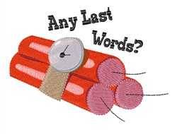 Last Words embroidery design