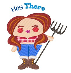 Hay There embroidery design