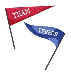 Team Terror embroidery design