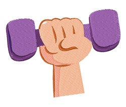 Exercise Dumbbell embroidery design