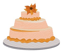 Floral Cake embroidery design